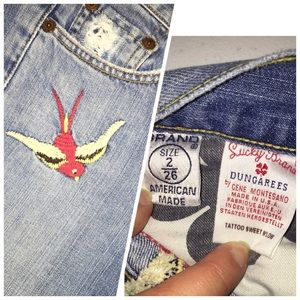 Lucky Brand Jeans - Rare Lucky Brand sparrow embroidered jeans