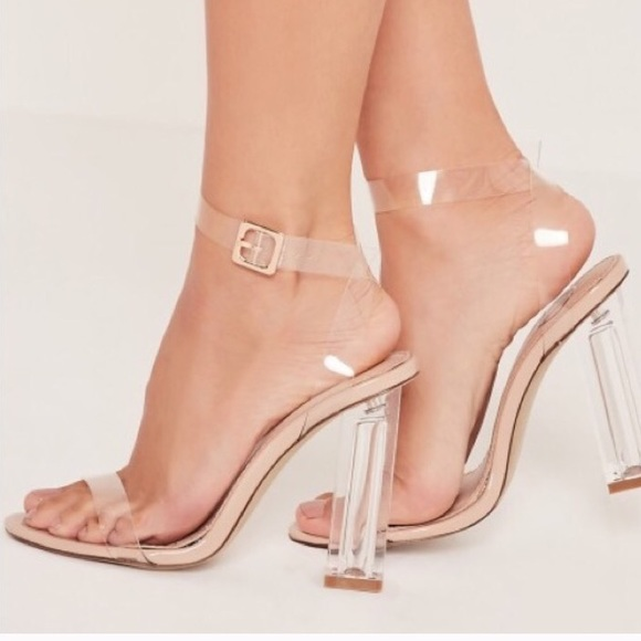 304075339a9 Yeezy Lookalike, Missguided Perspex clear heel NWT