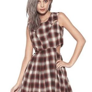unif plaid kickflip cutout dress Size Small