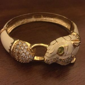 nOir Jewelry Jewelry - nOir white panther bracelet bangle