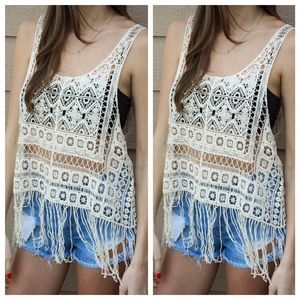 Other - Crochet Top with Fringe