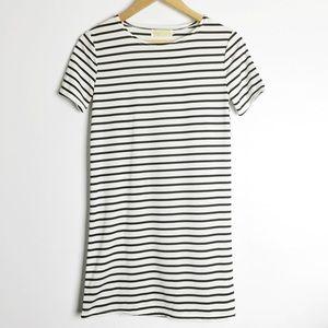 Black and White Stripe T-Shirt Dress