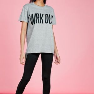 Missguided Tops - Wrk Out Active Oversized Tee