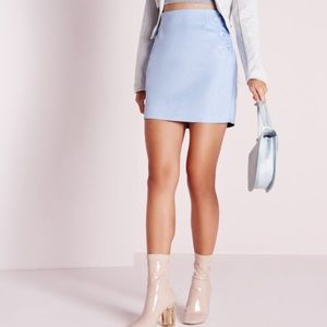 ASOS Dresses & Skirts - Blue Faux Suede Mini Skirt