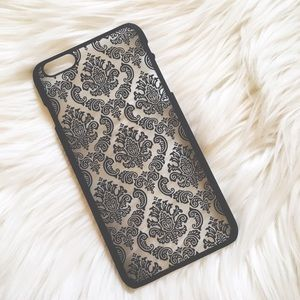 2 Left! Floral Lace Black IPhone 6+ Case