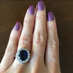 Jewelry - Princess Diana Style CZ Platinum Plate Ring