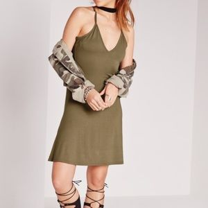 ASOS Dresses & Skirts - Khaki Tank Swing Skater Dress