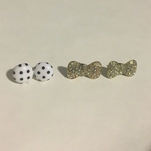 Sparkly and Polka Dot Earring Bundle