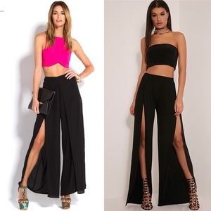 Forever 21 Split Front Palazzo Pants