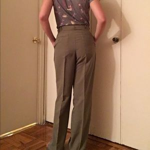 Oleg Cassini Pants - Vintage High Waisted Khaki Colored Slacks