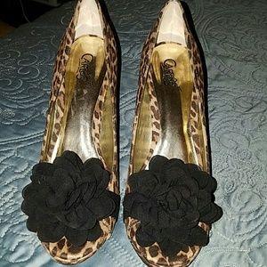Carlos Santana Leopard Heels
