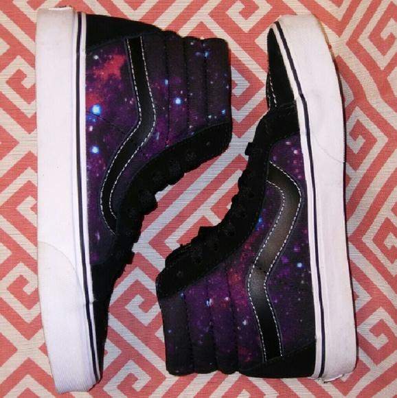 Vans Shoes | Galaxy High Top | Poshmark