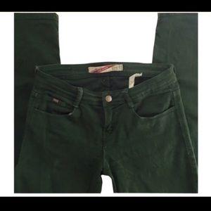 Hunter Green Zara Skinny Jeans