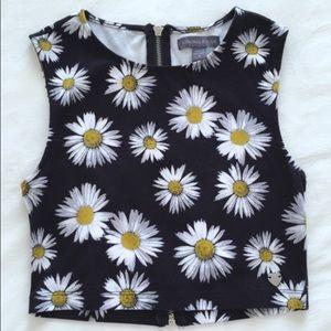 🆕 Kendall & Kylie sunflower crop top