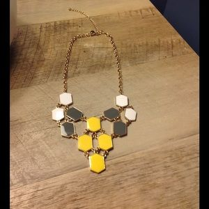 Three-toned beehive necklace