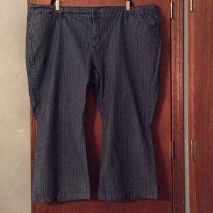 Denim - Denim jeans with tan stripes