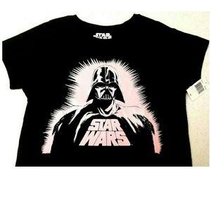Star Wars Tops - 🆕 NWT Pink Darth Vader Women's T-shirt sz L