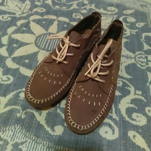 Hush puppies suede moccasins
