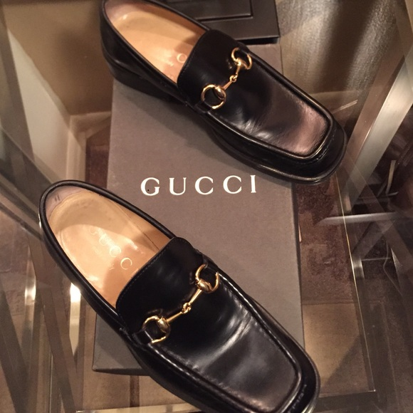forefront of the times entire collection best site Authentic Gucci hard bottom loafers