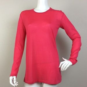 Malo Sweaters - Malo Fuchsia 100% Cashmere Crew Neck Sweater