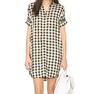 Madewell Gingham black and white dress size xs