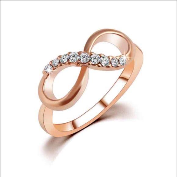 Jewelry 18K Rose Gold Infinity Ring Poshmark