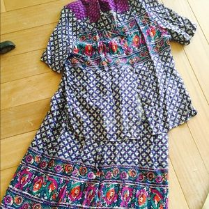 Breezy easy vintage top and skirt combo