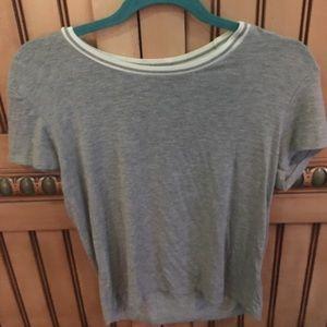 Brandy Melville Tops - NWOT jgalt grey ringer tshirt