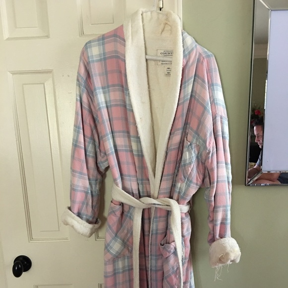 ee81dbce700e7 Victoria Secret Country Cottons plaid terry robe.