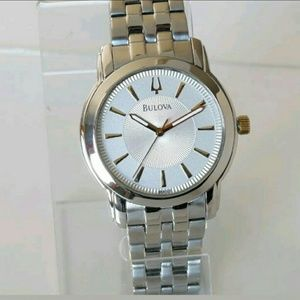Bulova Other - NWT Bulova Men's Silver Stainless Steel watch.