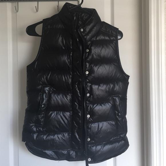 c76a9ed3bab7 J. Crew Jackets   Coats   Black Shiny Puffer Vest   Poshmark