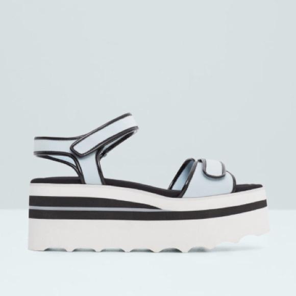 a8b4e8b37de Mango platform strap sandals size 6.5