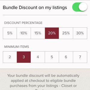 Accessories - Bundle discount