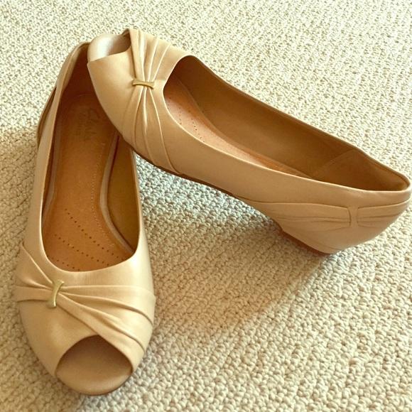 Clarks Shoes   Clarks Peep Toe Flats