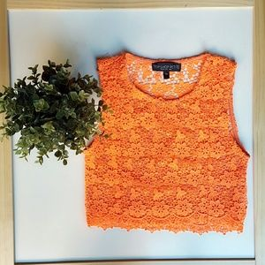 Topshop PETITE Tops - TopShop crochet crop top