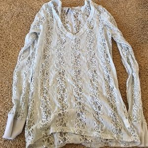 Sequin and lace top