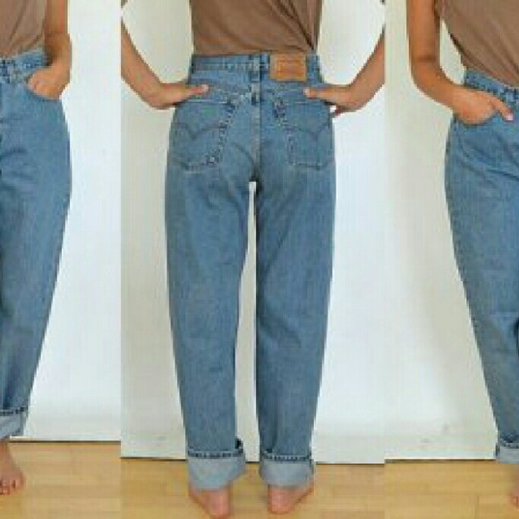 Vintage Levi's 550 High Waisted Tapered Leg Mom Jeans | Shop