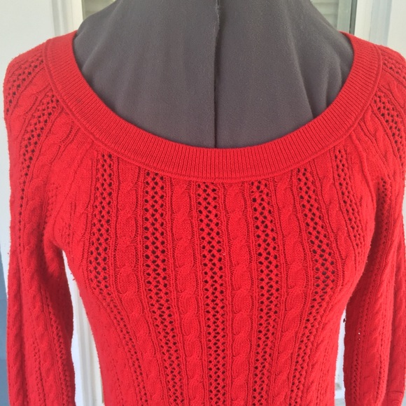 40% off American Eagle Outfitters Sweaters - AEO??AMERICAN EAGLE Red Cotton/W...