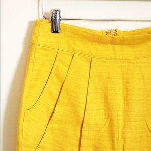 Forever 21 Skirts - Forever 21 F21 linen mustard yellow skirt sz S