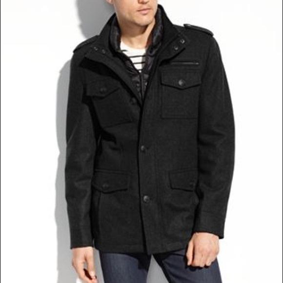 More Pics 299 Wool Guess Mens Jacket Nwt
