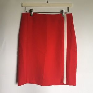 Banana Republic red and white pencil skirt 2