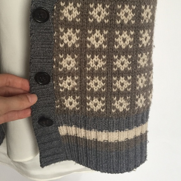 Banana Republic Sweaters - Banana Republic wool grey brown sweater vest S