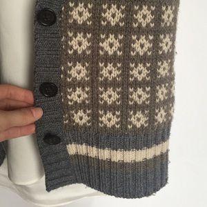 Banana Republic Sweaters - Banana Republic wool grey brown sweater vest S