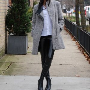 Calvin Klein asymmetrical coat.