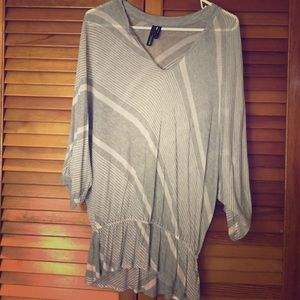 Grey Flowy Cover Up Top