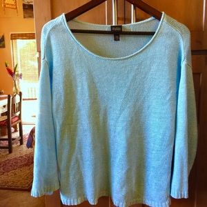 Eileen Fisher light sweater in turquoise