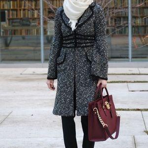 Nanette Lepore bell sleeve 3/4 lightweight coat.