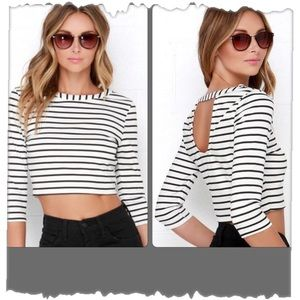 Jack for Luxe Apothetique Striped Crop Top