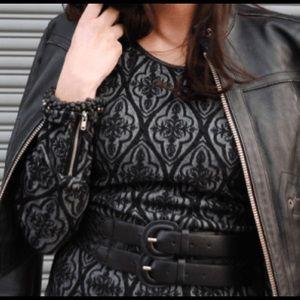 INC International Concepts Dresses - INC patterned dress with zipper arm details.