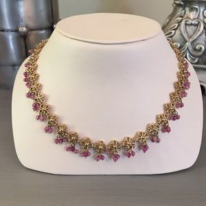 Monet Jewelry - 🛍 Dainty Gold Pink Beaded Necklace